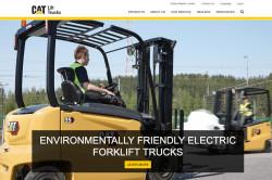 Cat Lift Trucks Drupal 9 homepage screenshot