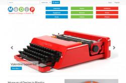 Museum of Design in Plastics website homepage screenshot