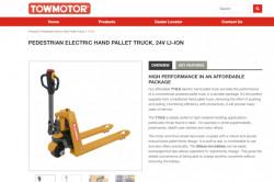 Towmotor website screenshot